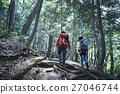夫婦 高山行走 爬山 27046744