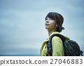 女性 トレッキング 湖 27046883