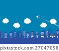 cityscape, airplane, plane 27047058
