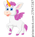 Cute unicorn cartoon 27047287