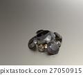 Background with brown gemstones. 3D illustration 27050915