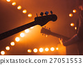Electric bass and solo guitar silhouettes 27051553