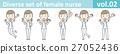 矢量 護士 姿勢 27052436