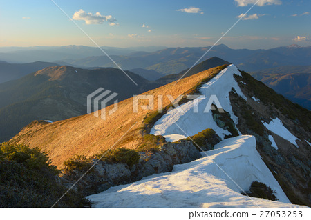 Carpathian Mountains early spring 27053253