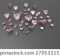 Background with red gemstones. 3D illustration 27053315