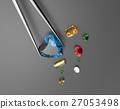 Collection of gemstones. 3D illustration 27053498