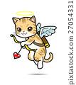 Cat Cupid vector cartoon illustration 27054331