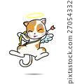 Cat Cupid vector cartoon illustration 27054332