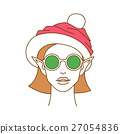 Portrait of young elf wearing round sunglasses  27054836