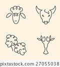 One line zodiac symbols set  27055038