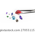 Collection of gemstones. 3D illustration 27055115
