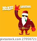 vector biker santa claus with smoking pipe. 27056721