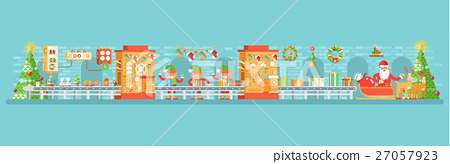 illustration of isolated Christmas conveyor with 27057923