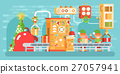 illustration of isolated Christmas conveyor with 27057941