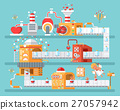 factory, conveyor, vector 27057942