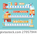 vertical illustration of isolated milk conveyor 27057944