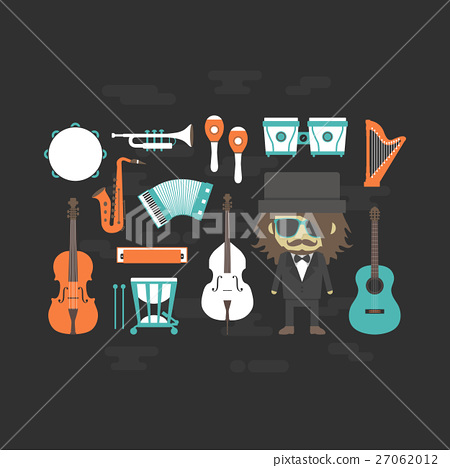 classical musician with music instrument 27062012