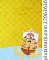 七福神 藏寶船 日式圖案 27063636