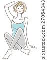 포즈 여성 앉아 27064343