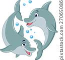 卡通 海豚 矢量 27065086