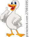 Cute duck thumb up 27065095