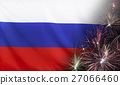 Russia Flag Firework real fabric 27066460
