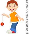 Young boy playing yoyo 27066919