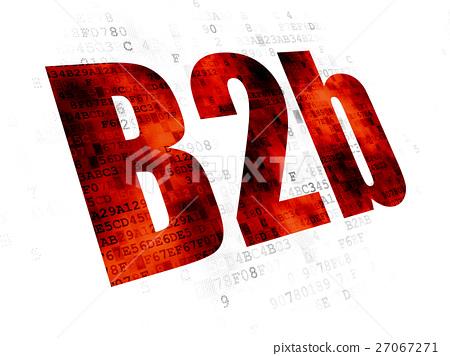 Finance concept: B2b on Digital background 27067271