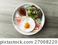 早餐 一個盤子 西餐 27068220