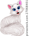 Cute white cat cartoon 27068401