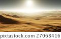 Sand dunes on Mars. Sunset on Mars 27068416