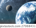 Earth like planet or Extrasolar planet with moon 27068431