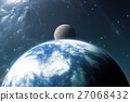 Earth like planet or Extrasolar planet with moon 27068432