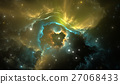Space background with nebula and stars 27068433