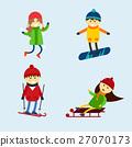 vector, ski, child 27070173