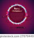 Merry Christmas Neon Sign with Lights 27070449