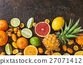 Variety of citrus fruits 27071412