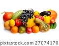 fruit and vegetable isolated on white background 27074170