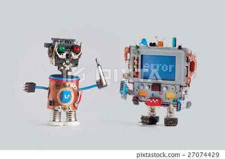 Stock Photo: Robots repair service concept. Handyman mechanic
