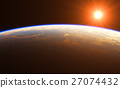 Beautiful Sunrise Over The Earth 27074432