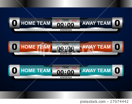 Football Scoreboard Template  Stock Illustration   Pixta