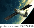 Space Station In Outer Space 27074456