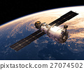 Space Station Orbiting Earth 27074502
