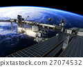 International Space Station Flying Obove Large 27074532