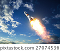Carrier Rocket Takes Off To The Clouds 27074536