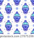 vector, snowboard, pattern 27075206