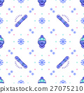 vector, snowboard, pattern 27075210