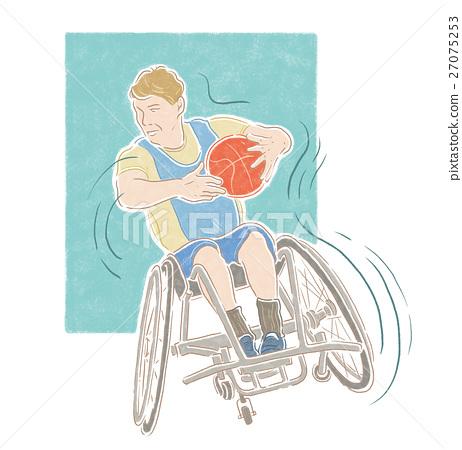 殘疾人士運動插畫 27075253