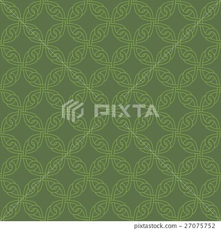 Neutral Seamless Celtic Knotwork Pattern Stock Illustration 27075752 Pixta