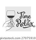 wine glass sketch 27075910
